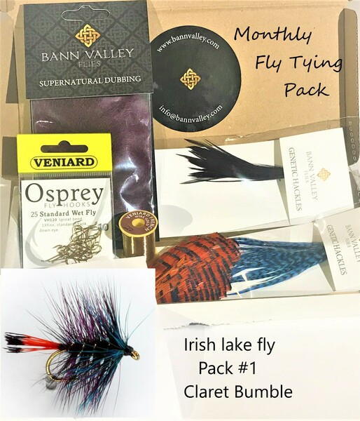 Monthly lough and Loch fly tying packs